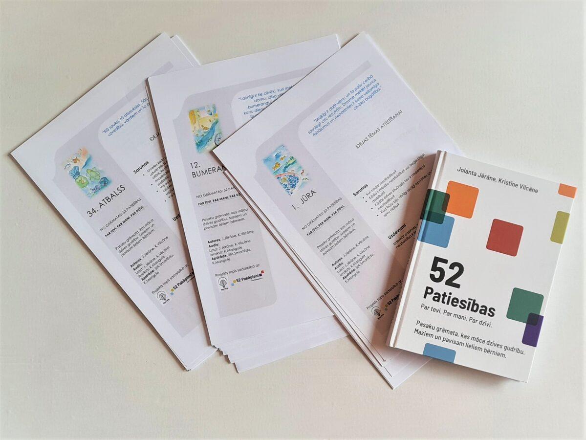 """IDEJU lapas (pdf) darbam klasē ar grāmatu """"52 patiesības. Par tevi. Par mani. Par dzīvi."""""""