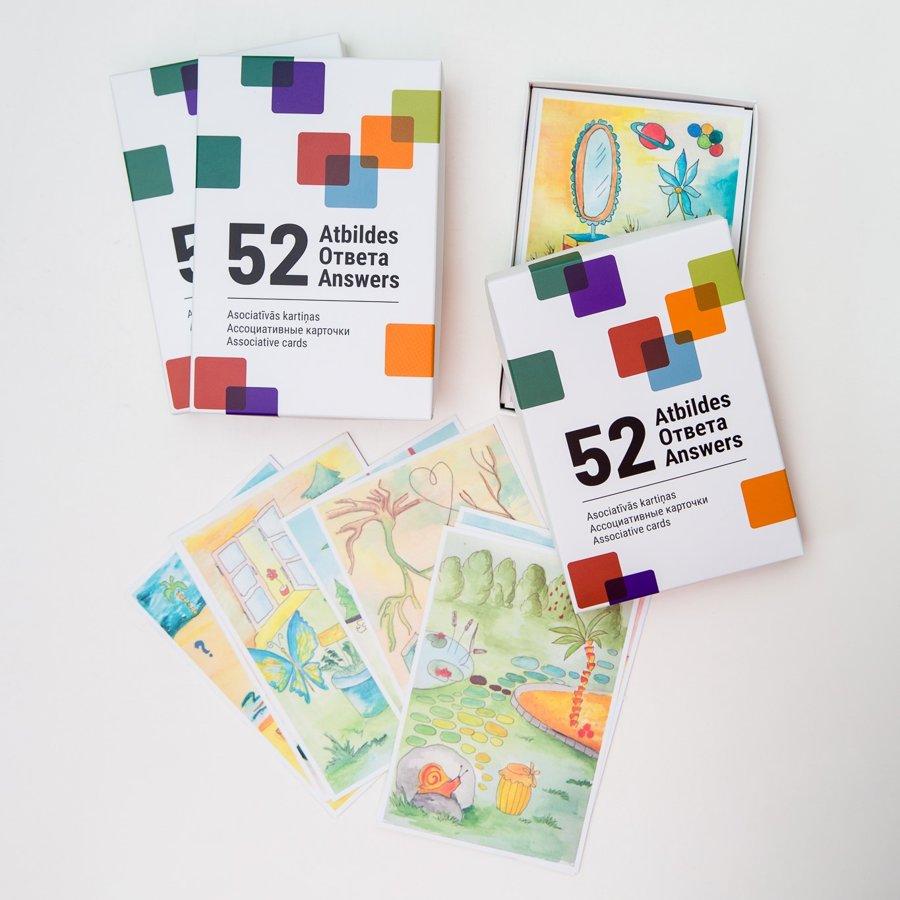 """Asociatīvās kartiņas """"52 atbildes"""""""